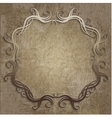 beautiful frame on vintage background vector image vector image