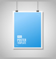 blue paper with clips vector image