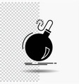 bomb boom danger ddos explosion glyph icon on vector image