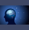 brain neurons activity medicine thinking vector image vector image