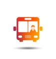 bus sign icon public transport symbol vector image