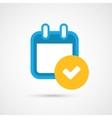 Calendar Icon - check mark vector image vector image