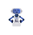 chatbot character friendly robot vector image