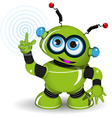 Cheerful Green Robot vector image vector image