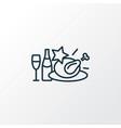 christmas diner icon line symbol premium quality vector image