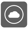 Cloud Flat Squared Icon vector image