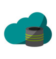 cloud information save vector image vector image
