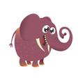 cute cartoon baby elephant icon vector image vector image
