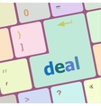 deal button on keyboard with soft focus vector image vector image