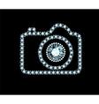 Diamond Photo Camera vector image