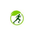 eco run logo icon design vector image vector image