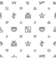 employee icons pattern seamless white background vector image vector image