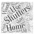 Exterior Shutters Word Cloud Concept vector image vector image