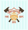 fire department label emblem vector image