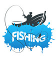 fisherman in a boat vector image vector image