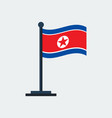 flag of north-koreaflag stand vector image vector image