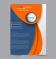 flyer design background brochure template vector image vector image