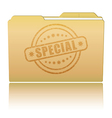 Folder with Special damaged stamp vector image