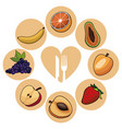 food healthy fruits nutrition image vector image vector image