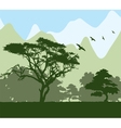 forest and mountains vector image