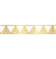 gold foil triangles seamless border golden vector image