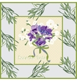 Greeting card with Lavender flowers Botanical vector image vector image