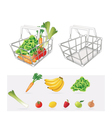 Grocery Basket vector image