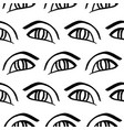 hand drawn eye doodles seamless pattern vector image vector image