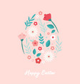 happy easter greeting cards or posters with vector image vector image