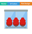 Icon of football players bench vector image vector image