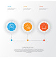 internet icons set collection of bell image vector image vector image