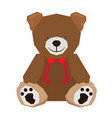 isolated geometric teddy bear vector image vector image