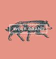 logotype wolf vector image vector image