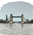 London bridge drawing vector image vector image