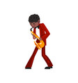 male african american musician playing saxophone vector image vector image