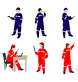 man and woman in coveralls vs vector image