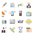 Mass Media Icons Set vector image vector image