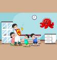 master doctor to health children vector image vector image