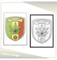 medica marijuana poster five vector image vector image