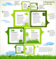 Modern ecology Design Layout vector image vector image