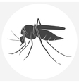 Mosquito silhouette icon vector image vector image