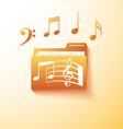 musical notes folder vector image vector image
