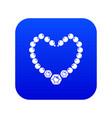 necklace icon blue vector image vector image