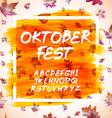 Oktoberfest celebration design with Bavarian hat vector image