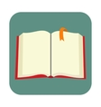 Opened blank book with bookmark flat icon vector image vector image