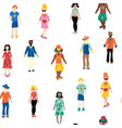 people different gender and ethnicity seamless vector image