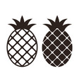 pineapple icon set isolated on white background vector image