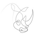 rhinoceros animal one line vector image
