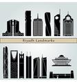 Riyadh V2 landmarks and monuments vector image vector image