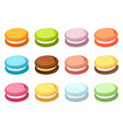 Set of colored macaroons vector image
